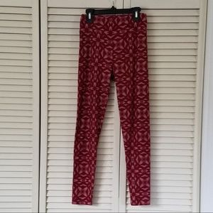 LuLaRoe Legging Red/Cream/White Women's